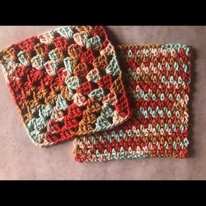 Other - Set of 2 Hand Crocheted Wash Cloths